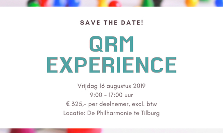 Qrm Experience Save The Date
