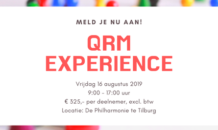 Qrm Experience Meld Je Nu Aan